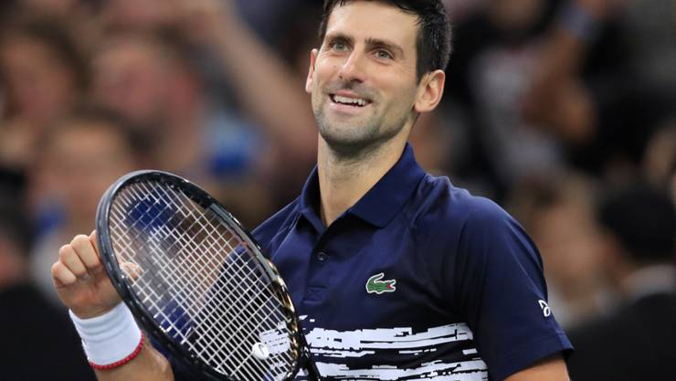 Novak Djokovic hat in Paris-Bercy allen Grund zu strahlen
