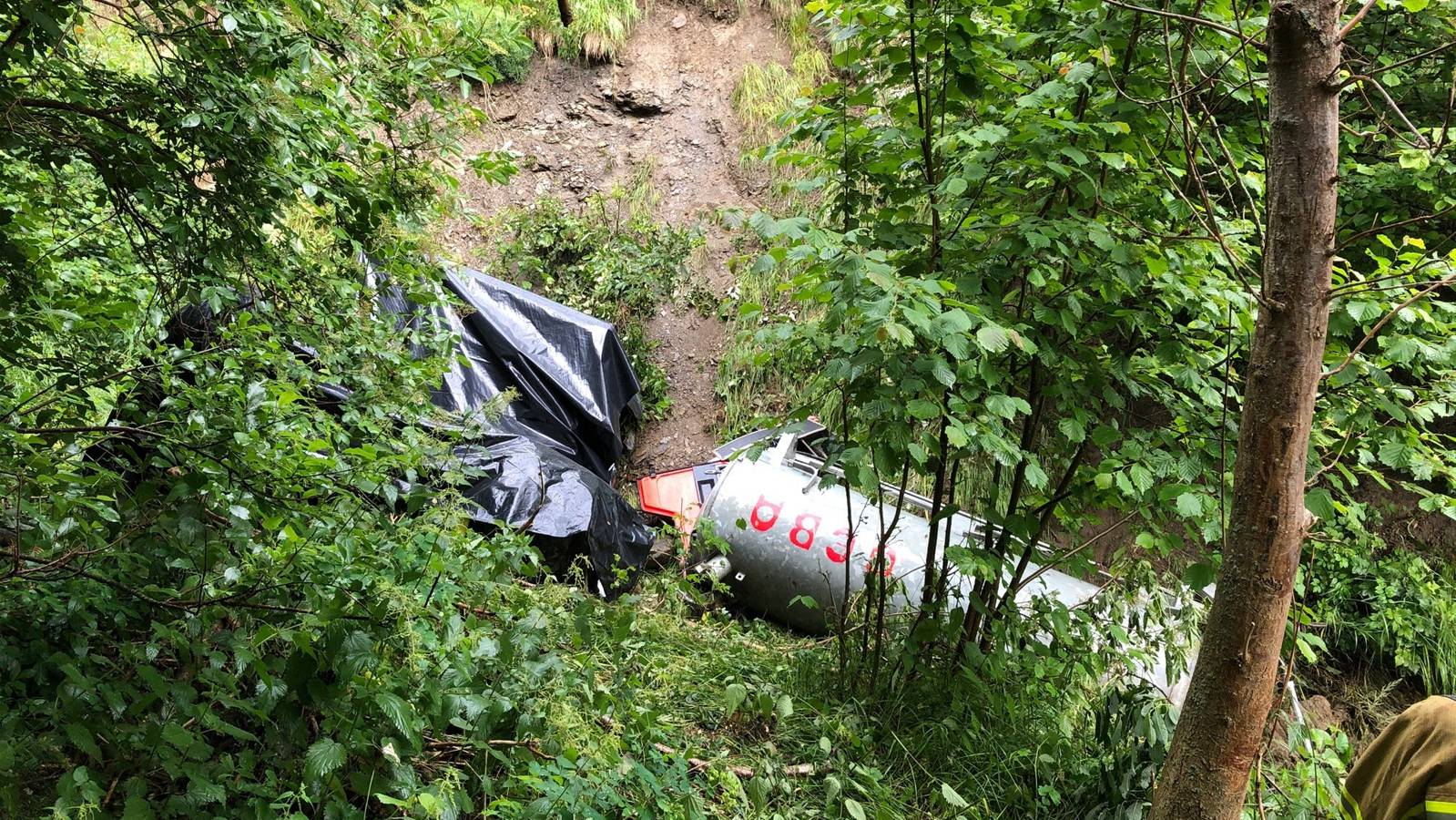 2020-07-15 Cumbel Unfall Motorkarren Gülle