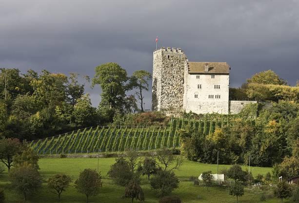 Das Schloss Habsburg, nahe bei der Gemeinde Habsburg.