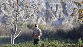 Der verurteilte Soldat vor einem Treffen mit seinem Anwalt (Archiv)
