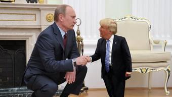 Sogar als Bewegtbild gibt es den Mini-Trump.