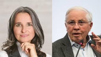 Kritikerin und Verteidiger: Nationalrätin Yvette Estermann und SVP-Doyen Christoph Blocher.