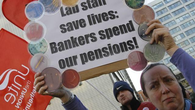 Spitalangestellte streiken in London