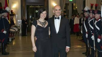 Glamour-Faktor: Alain Berset ist Bundespräsident 2018. Das Bild zeigt ihn mit seiner Frau Muriel Zeender Berset beim Gala-Dinner für die damalige Präsidentin Südkoreas im Jahr 2014.