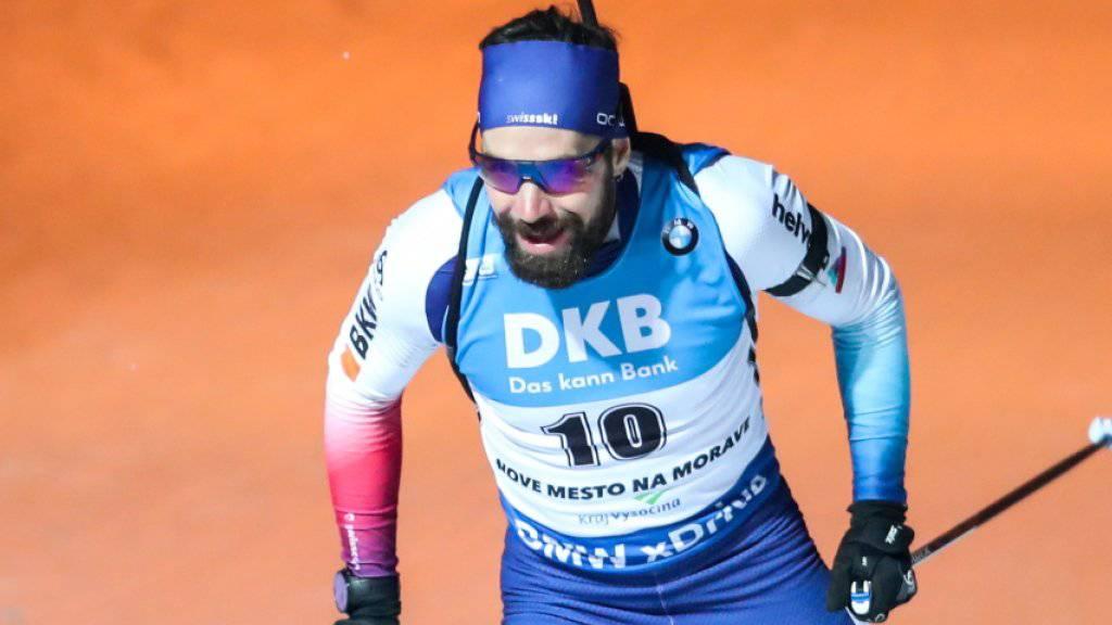 Achter Top-Ten-Platz in dieser Saison, aber nicht in der Nähe einer Medaille: Biathlet Benjamin Weger