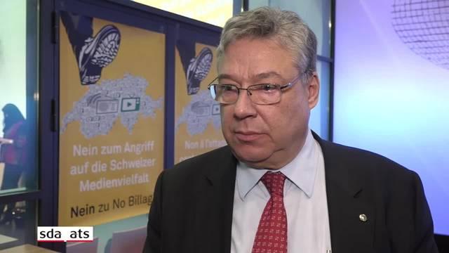"""No-Billag-Gegner Lombardi will """"Kopfschmerzen mit Aspirin behandeln, nicht mit der Guillotine."""""""