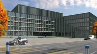 So soll das kantonale Polizei- und Justizzentrum aussehen.