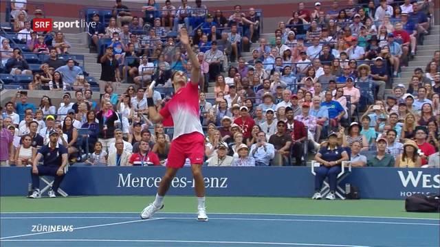 US-Open: Federer kämpft mit seinem Rücken