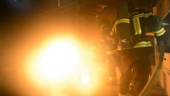 Gegen 50 Feuerwehrleute standen gegen die Flammen auf dem Bauernhof im Einsatz. (Symbolbild)