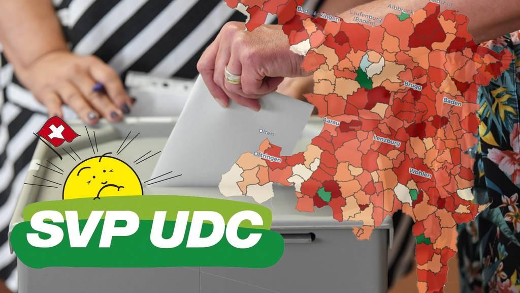 Interaktive Karte: So viel hat die SVP in Ihrer Gemeinde eingebüsst – nur in einer konnte sie kräftig zulegen