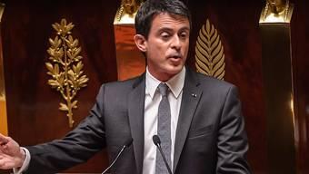 Der französische Premier Valls vor der Nationalversammlung in Paris.