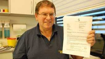 2011 waren es Vorwürfe von Krankenkassen, er verrechne zu viele Leistungen – im Bild ein Brief von Santésuisse –, heute droht Ingo Malm eine Anklage wegen Betrugs und Urkundenfälschung. Archiv