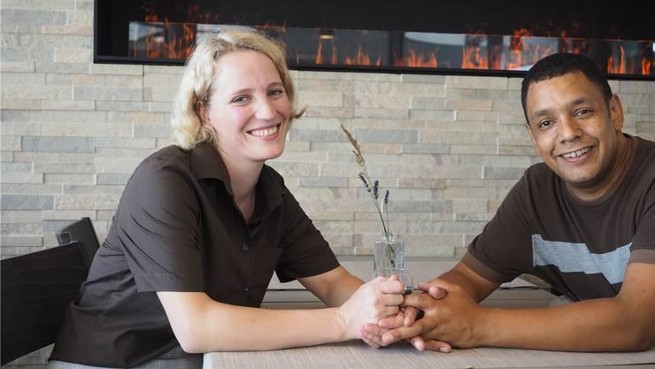 Während Corinne und Serge Güntert mit dem Hotel-Betrieb zufrieden sind, könnte es mit dem Restaurant-Betrieb im Steiner «Felsen» besser laufen. Bild: twe (August 2018)