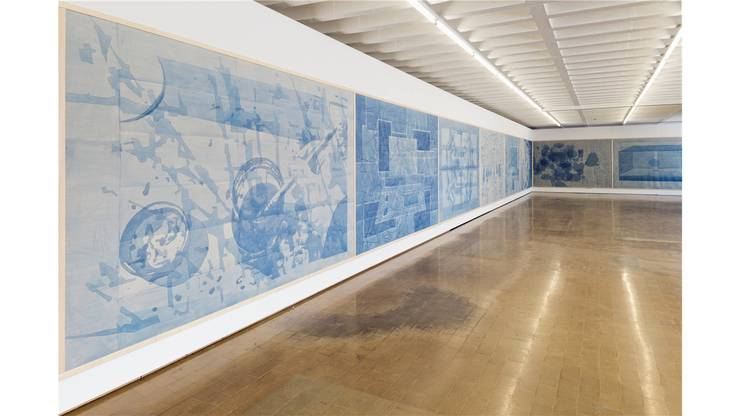 Rolf Winnewisser hat für den Kunstraum Baden ein riesiges Bilderfries massgeschneidert.