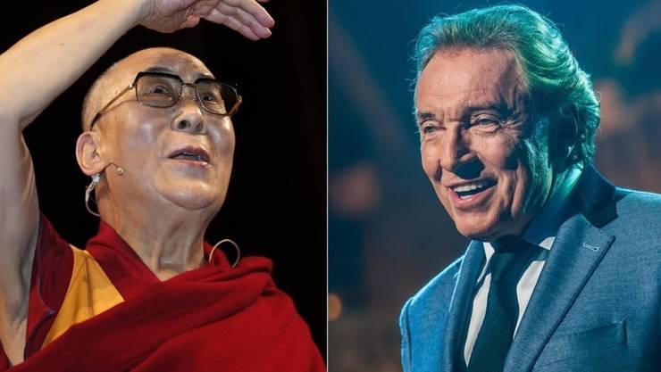 Der Dalai Lama (l) hat sich mit Gott getroffen...Karel Gott. (Archivbilder)