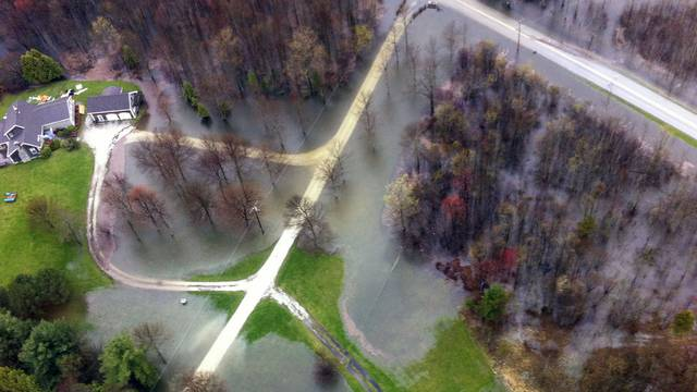 Überschwemmtes Gebiet beim Lake Champlain