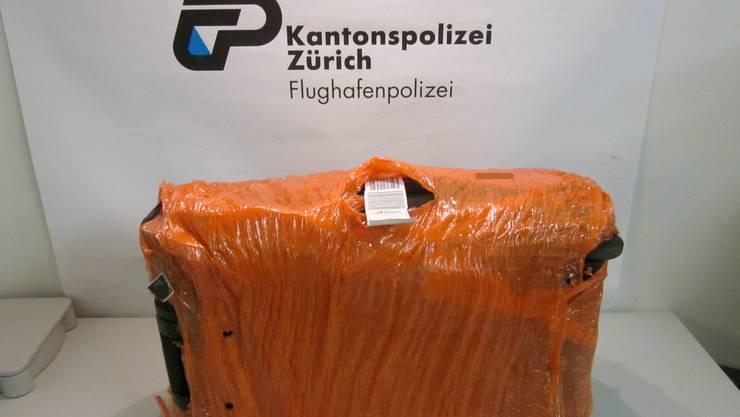 Der Kokain-Koffer am Flughafen Zürich.