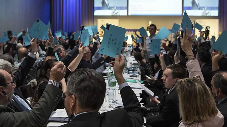 Die FDP-Delegierten haben sich am Samstag knapp für die Energiestrategie 2050 ausgesprochen.