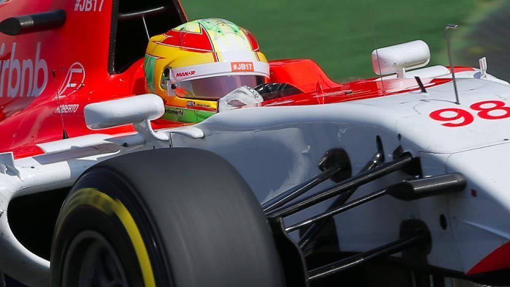 Roberto Merhi muss bei Manor-Marussia sein Cockpit für Rossi räumen