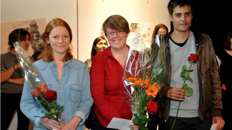 Die drei Gewinner (vl.): Charlotte Friedli, Nadia Bader und Roshan Adhihetty.