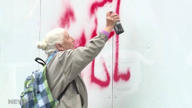 86-Jährige greift zur Spraydose