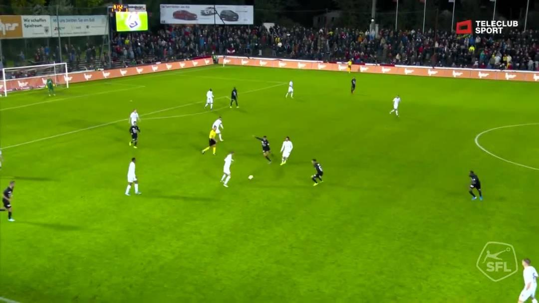 Challenge League 2019/20, 11. Runde:  FC Aarau - FC Lausanne-Sport, 83. Minute