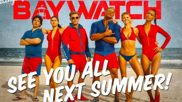 """Das erste offizielle Bild der neuen """"Baywatch""""-Crew. (z.V.g. Paramount)"""