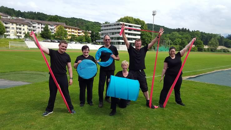 Die Teilnehmer aus Bettlach nach ihrem letzten Trainingstag im Luzerner Leichtathletikstadion