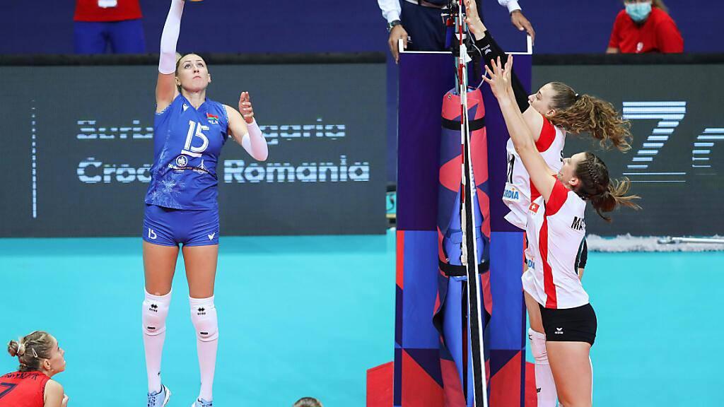 Die Schweizer Volleyballerinnen stehen gegen Belarus zu oft auf verlorenem Posten