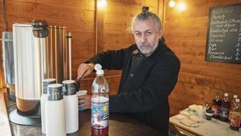 Gianni Gravina in seiner Hütte an der Weiten Gasse.