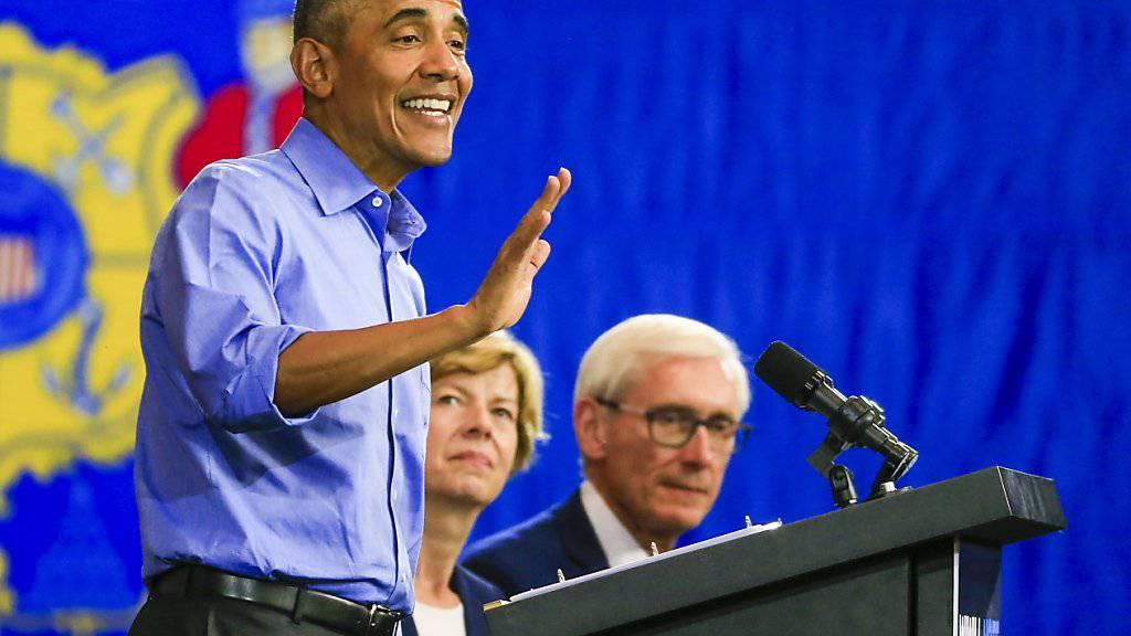 Wahlkampf: Der ehemalige US-Präsident Barack Obama hat am Freitag den derzeitigen US-Präsidenten Donald Trump kritisiert.