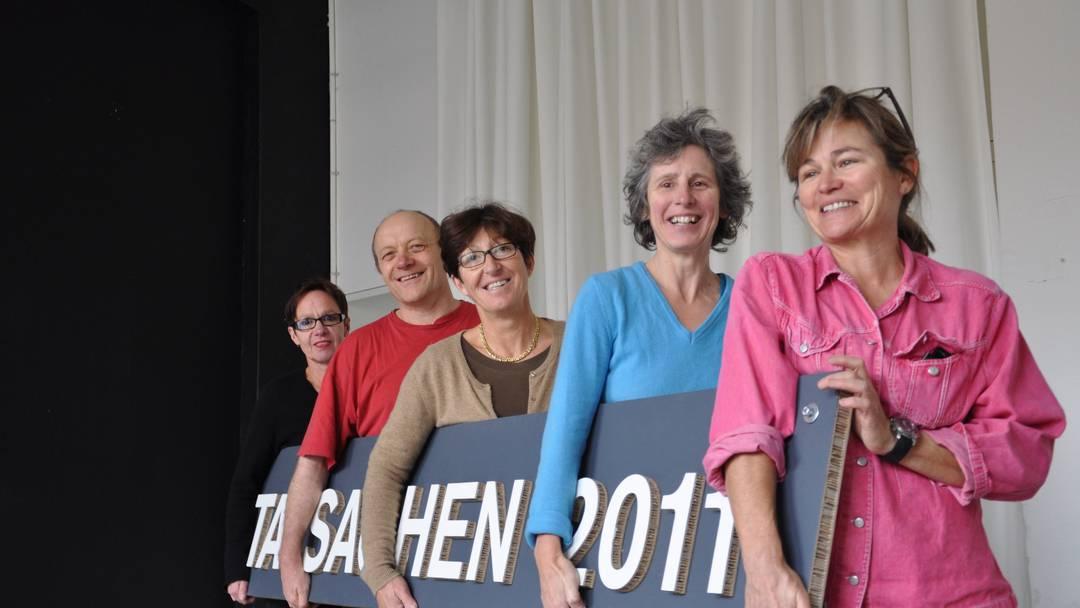 Aufbau der Designmesse Tatsachen 2011