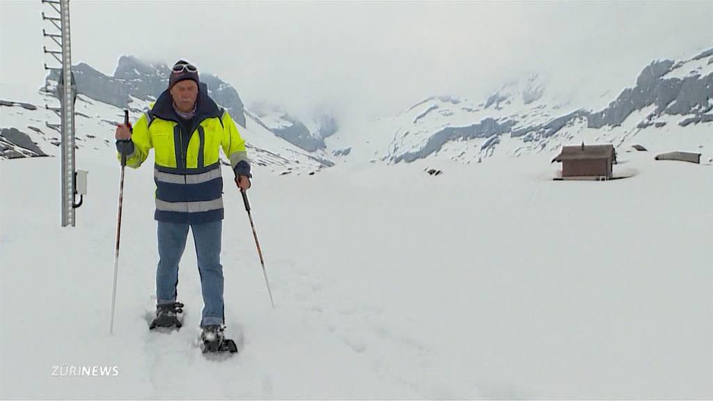 Glattalp liegt immer noch unter 2 Metern Schnee