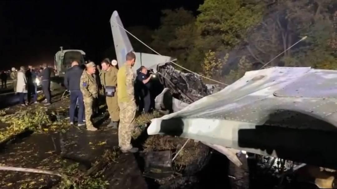 Ukraine: Militärflugzeug stürzt ab – 25 Tote und zwei Verletzte