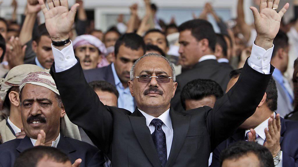 Die Partei von Ali Abdullah Saleh bestätigte den Tod des früheren Präsidenten des Jemens (Archiv)