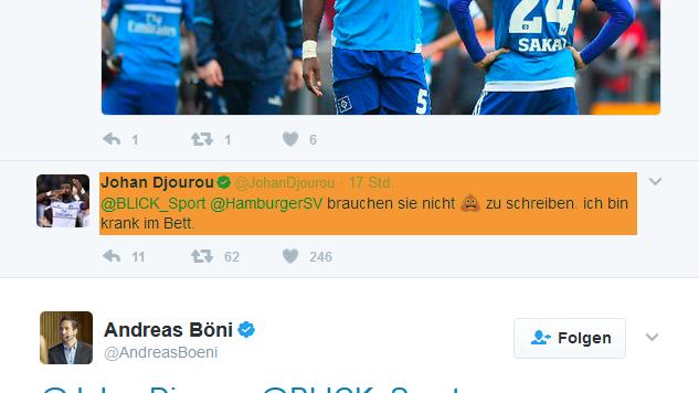 Coole Reaktion von Johan Djourou