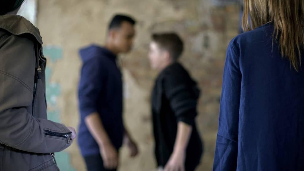 Zwei Männer gingen in Affeltrangen auf eine Gruppe los. (Symbolbild)