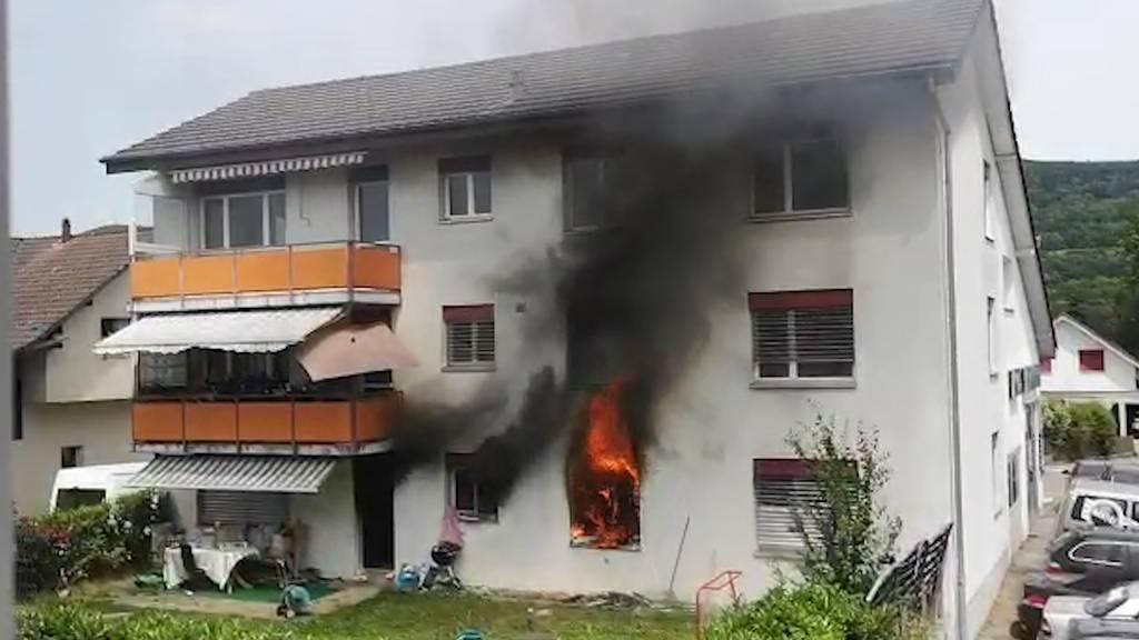 Brand in Aarau Rohr: Grossaufgebot der Feuerwehr