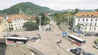 Bruggerstrasse in Baden wird mit zwei Spuren bedient.