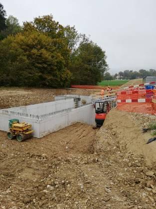 Blick auf die Baustelle Richtung Hubersdorf.