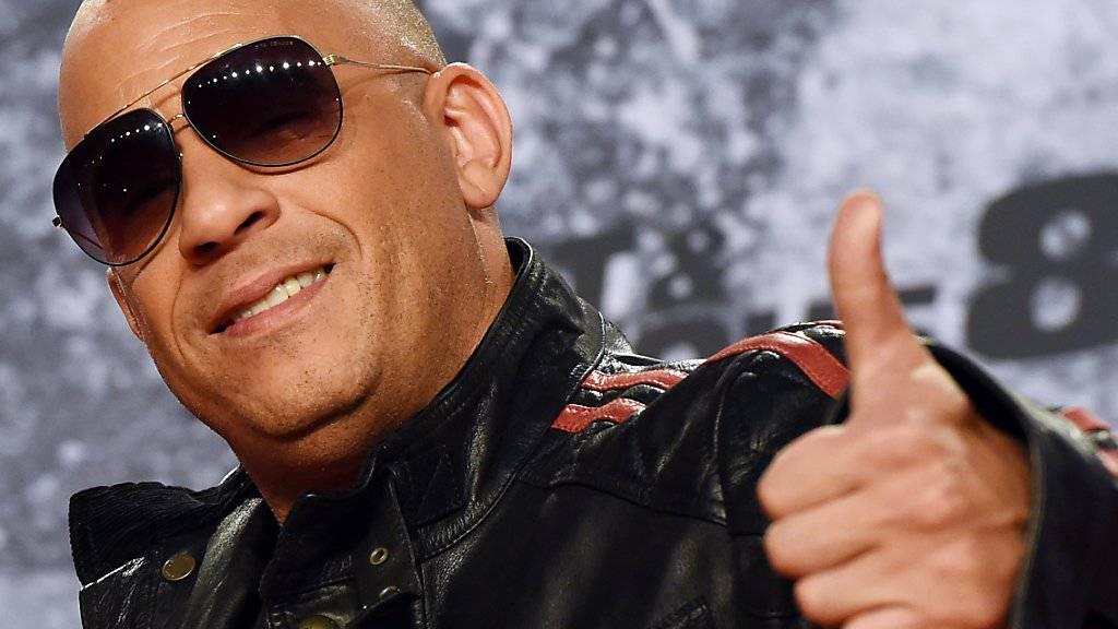 """US-Action-Star Vin Diesel kann sich freuen: Der Film """"Fast & Furious 8"""" ist ein Kassenschlager. (Archivbild)"""
