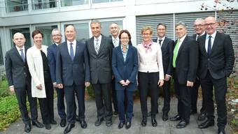 Gemeinsame Regierungsitzung beider Basel zur Partnerschaft.