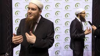 IZRS-Chef Nicolas Blancho (vorne) und Sprecher Qassim Illi