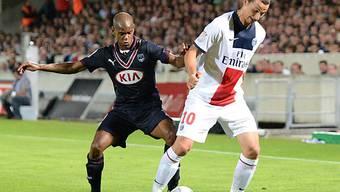 PSG (Ibrahimovic) hatte gegen Bordeaux (Silva) die Nase vorn