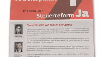 Die Regierung unterstützt die Unternehmenssteuerreform. (Archiv)