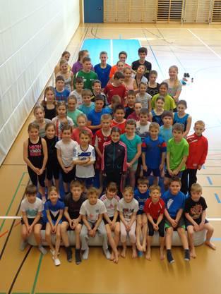 Teilnehmer der Sport- und Fun-Woche in Wölflinswil
