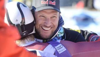 Aksel Lund Svindal hat in Lake Louise allen Grund zur Freude