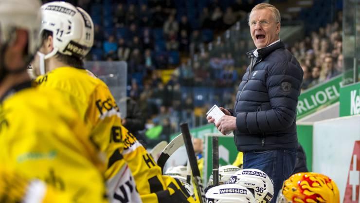 Cheftrainer Kari Jalonen führte den SC Bern zum Sieg in der Qualifikation - und nun in den Final?