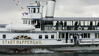 War im Juli auf Grund gelaufen: das Dampfschiff «Stadt Rapperswil».