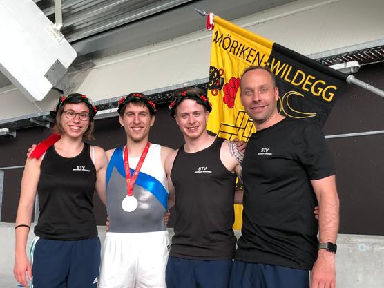 von links nach rechts: Melanie Schärer, Tobias Beckert, Janick Schütz und Markus Brack
